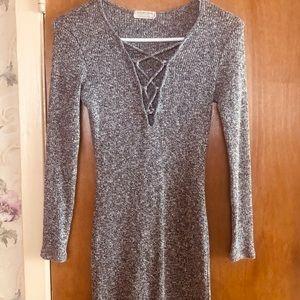 Heather grey stretchy dress